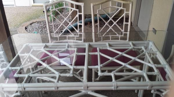 Rattan Table and Chairs $200 I would love these chairs paired with another table. View on Craigslist
