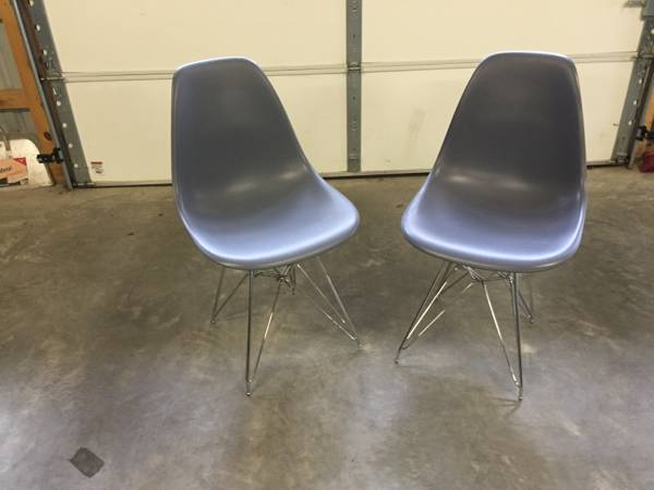Mid Century Eiffel Style Chairs     $40     View on Craigslist