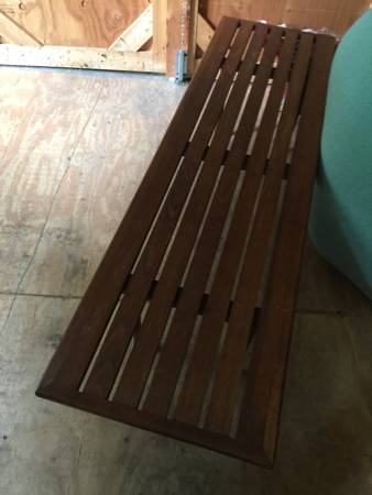 Mid Century Slat Coffee Table     $100     View on Craigslist