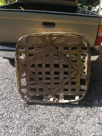 Tobacco Basket $45 This would look great hanging on the wall.  View on Craigslist
