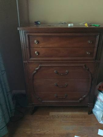 Dresser     $25   This dresser would look great with a coat of paint.    View on Craigslist