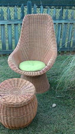 Wicker Chair and Ottoman $60 View on Craigslist
