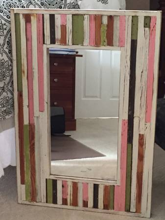 Reclaimed Wood Mirror $30 View on Craigslist