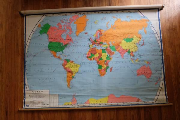 Vintage World Map     $75     View on Craigslist