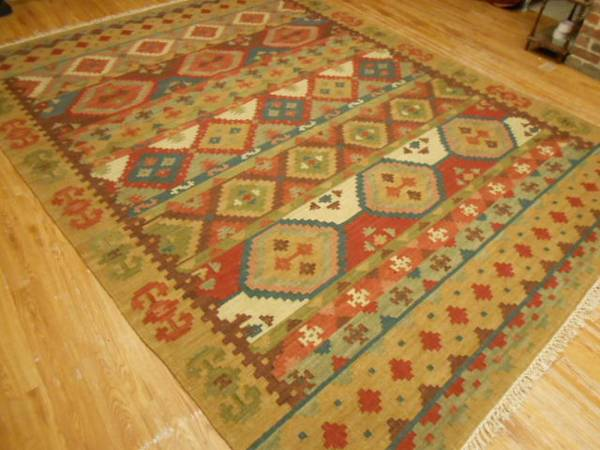 "8"" x 11' Kilim Rug $495 View on Craigslist"