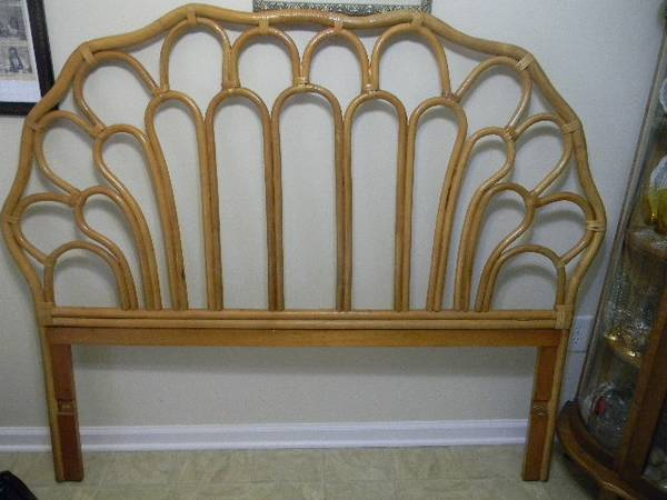 Rattan Headboard     $200   I think this is a really fun headboard - I would probably spray paint it.    View on Craigslist
