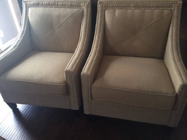 Pair of Linen Chairs     $500     View on Craigslist
