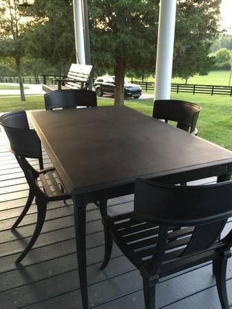 Restoration Hardware Outdoor Dining Set $1500 The table alone retails for $1500.  View on Craigslist