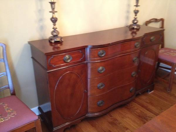 Vintage Buffet     $150   his would be a good piece to paint.     View on Craigslist
