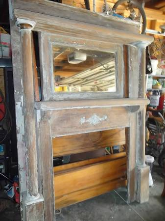 Antique Oak Mantle     $200     View on Craigslist