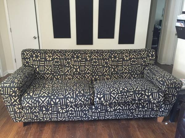 Black Geometric Couch $300 View on Craigslist