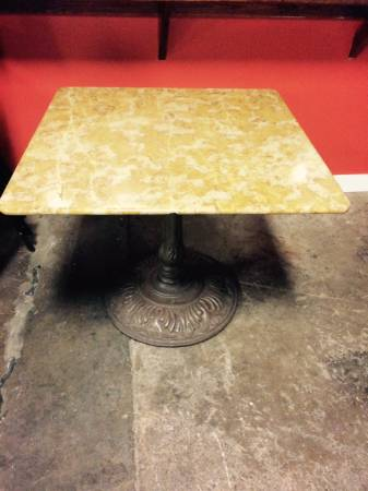 Marble Cafe Table Free View on Craigslist