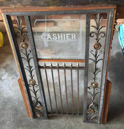 Antique Bank Teller Window     $1200     View on Craigslist