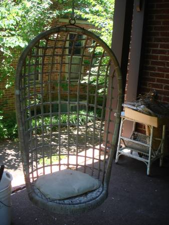 Vintage Wicker Hanging Chair $60 View on Craigslist