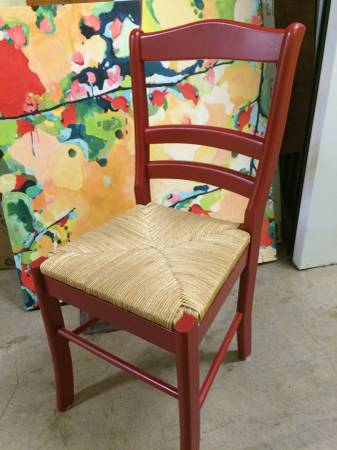 Set of 4 Red Chairs     $175     View on Craigslist