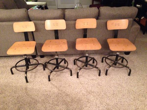 Set of 4 Vintage Stools     $150     View on Craigslist