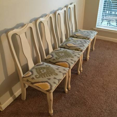 Set of Four Dining Chairs     $120     View on Craigslist