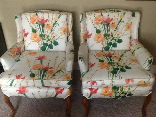 Pair of Floral Chairs $295 View on Craigslist