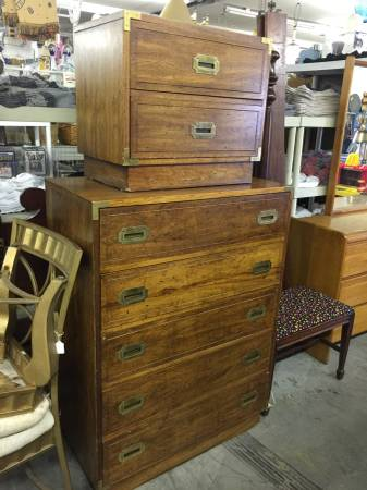Campaign Dresser and Nightstand $110 View on Craigslist
