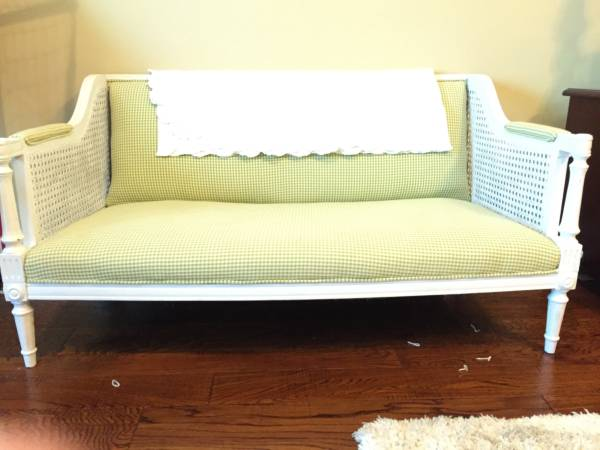 Kids Cane Settee $85 View on Craigslist