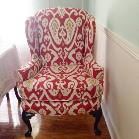 Kravet Wingback Chair   $320 View on Craigslist