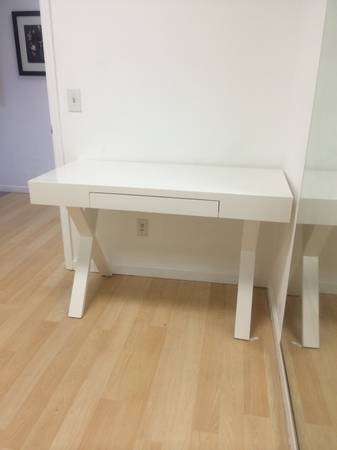 White Desk $100 This desk retails for $199 at World Market. View on Craigslist