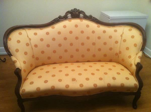 Antique Victorian Loveseat $300 View on Craigslist