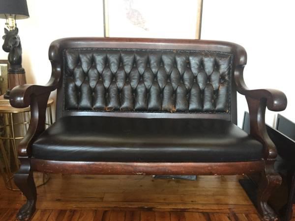 Vintage Leather Loveseat     $400     View on Craigslist