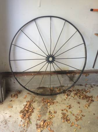 Antique Wheel $60 This would be a great statement piece on your wall.  View on Craigslist