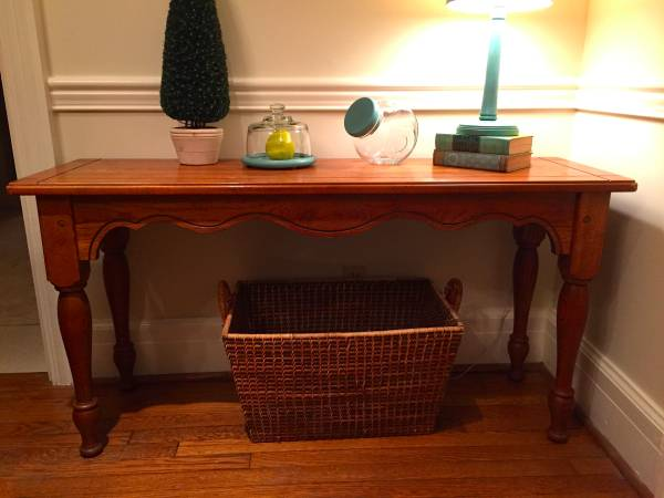 Oak Console Table     $48     View on Craigslist