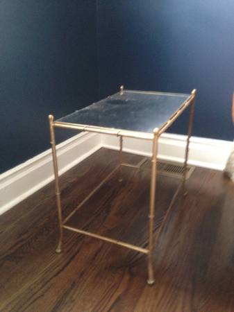 Gold Faux Bamboo End Table     $80     View on Craigslist