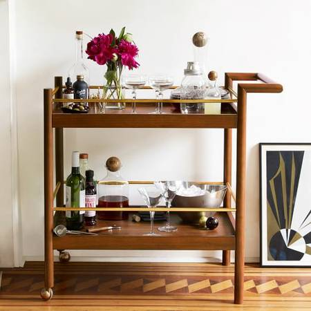 West Elm Bar Cart $200 View on Craigslist