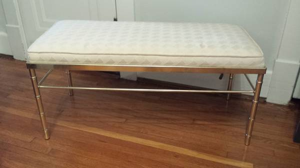 Brass Faux Bamboo Bench $135 View on Craigslist