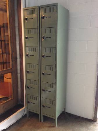 Pair of Vintage School Lockers $250 View on Craigslist