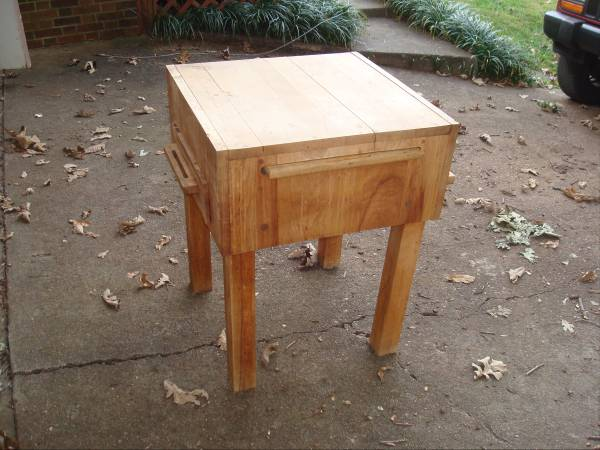 Butcher Block Table $100 View on Craigslist