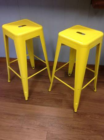 Pair of Yellow Metal Stools $50 View on Craigslist