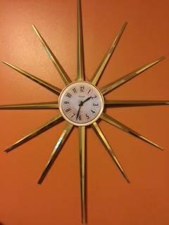 Mid Century Sunburst Clock     $68     View on Craigslist