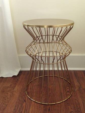 Gold End Table     $50     View on Craigslist