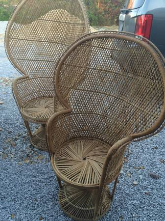 Wicker Peacock Chairs     $100     View on Craigslist