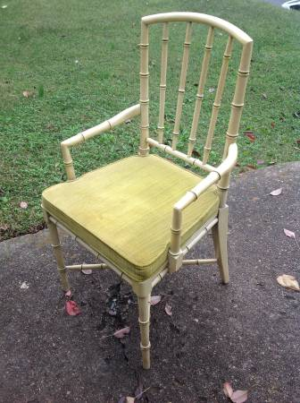 Faux Bamboo Chair     $45   I love this chair - since there is just one would be perfect for a desk!    View on Craigslist