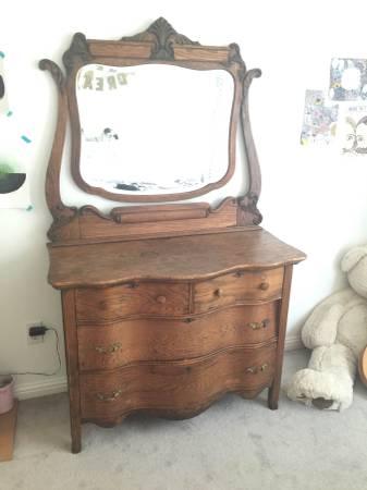 Antique Oak Dresser     $100     View on Craigslist