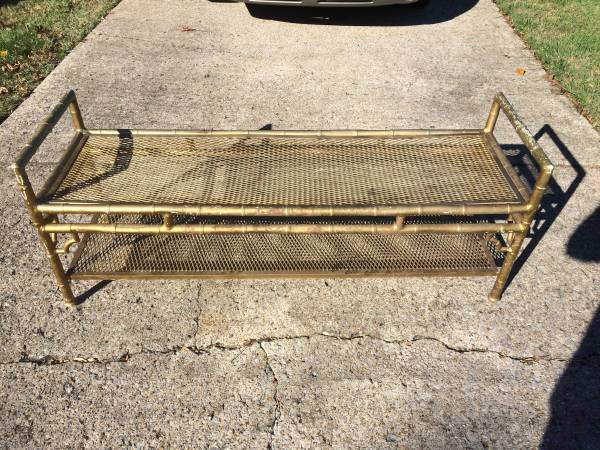 Vintage Metal Faux Bamboo Bench     $100     View on Craigslist