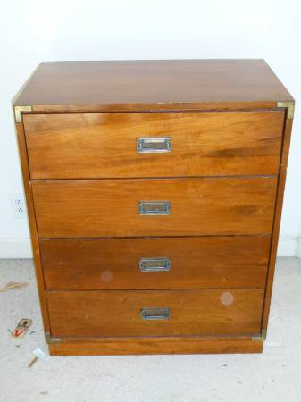 Campaign Style Chest $20 This is a great deal - just needs a coat of paint.  View on Craigslist
