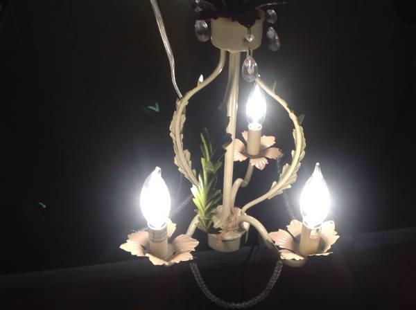 Small Chandelier $40 This would be perfect in a nursery. View on Craigslist