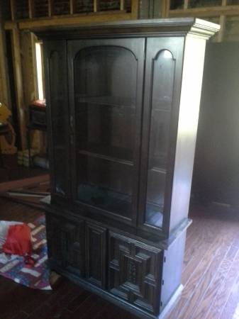 China Cabinet     $140   Use this piece as is or give it a coat of paint.    View on Craigslist