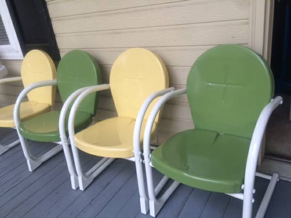 Set of 4 Vintage Style Chairs $50 These are kid sized chairs - were originally $69.99 each. View on Craigslist