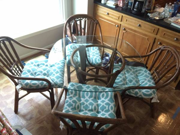 Bamboo/Rattan Table and Chairs $95 View on Craigslist