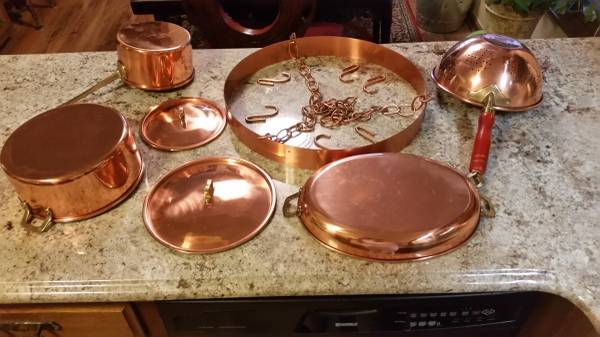 Copper Cookware $85 View on Craigslist