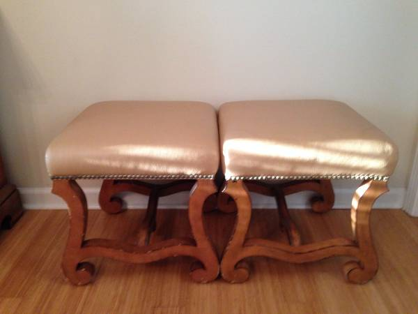 Pair of Leather Footstools     $50     View on Craigslist