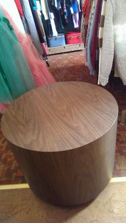 Circular Side Table $40 View on Craigslist